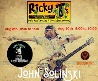 John Solinski From Irish Kevin's Down in Key West Performing Live August 8th. & August 10th.